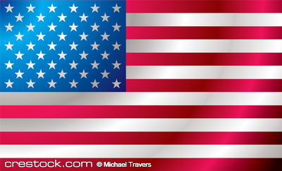 Illustrated us flag with ripples ideal backgro...