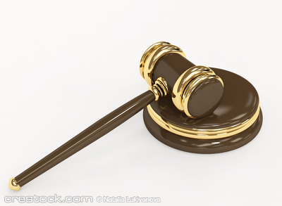 Symbol of justice - judicial 3d gavel. Object ...